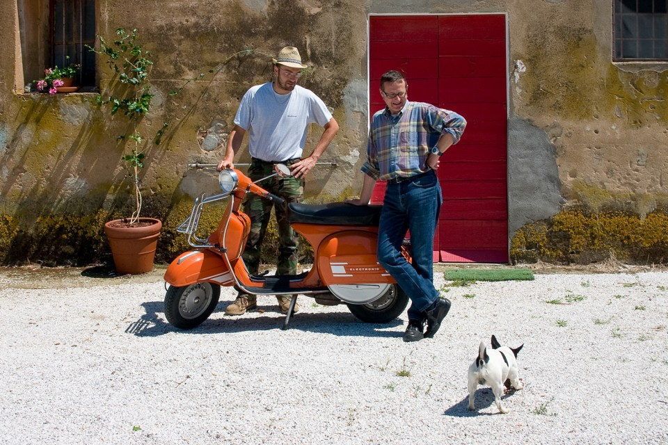 In Bolgheri with Marco and Simone (Peter Moore)