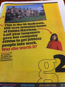 The tax payer pays £180m to private company - Guardian G2