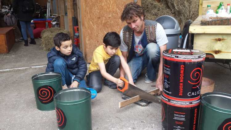 Up-cycling workshop voor kinderen