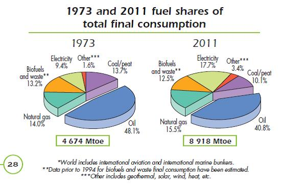2 share of fuels in final consumption IEA 2014