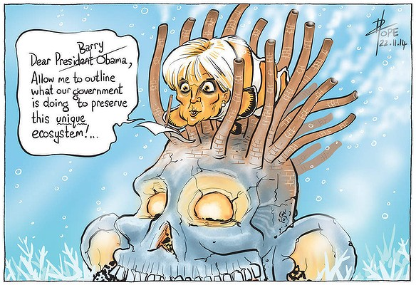 Julie Bishop cartoon re reef Canberra Times