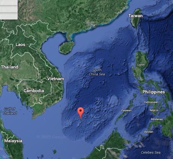 Spratly Islands Google Map