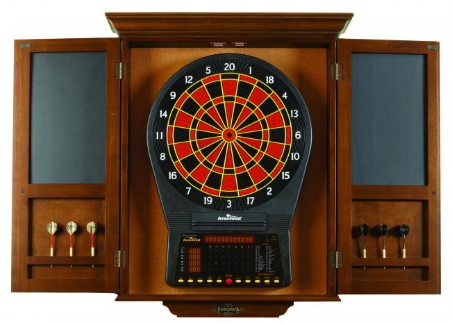 Brunswick Dartboard Cabinet  Peters Billiards