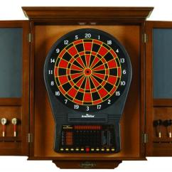 Double X Back Chairs Green French Bistro Brunswick Dartboard Cabinet - Peters Billiards