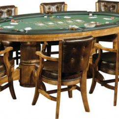 Card Table And Padded Chairs Outdoor Chair Cushions With Ties Texas Hold'em Game - Peters Billiards