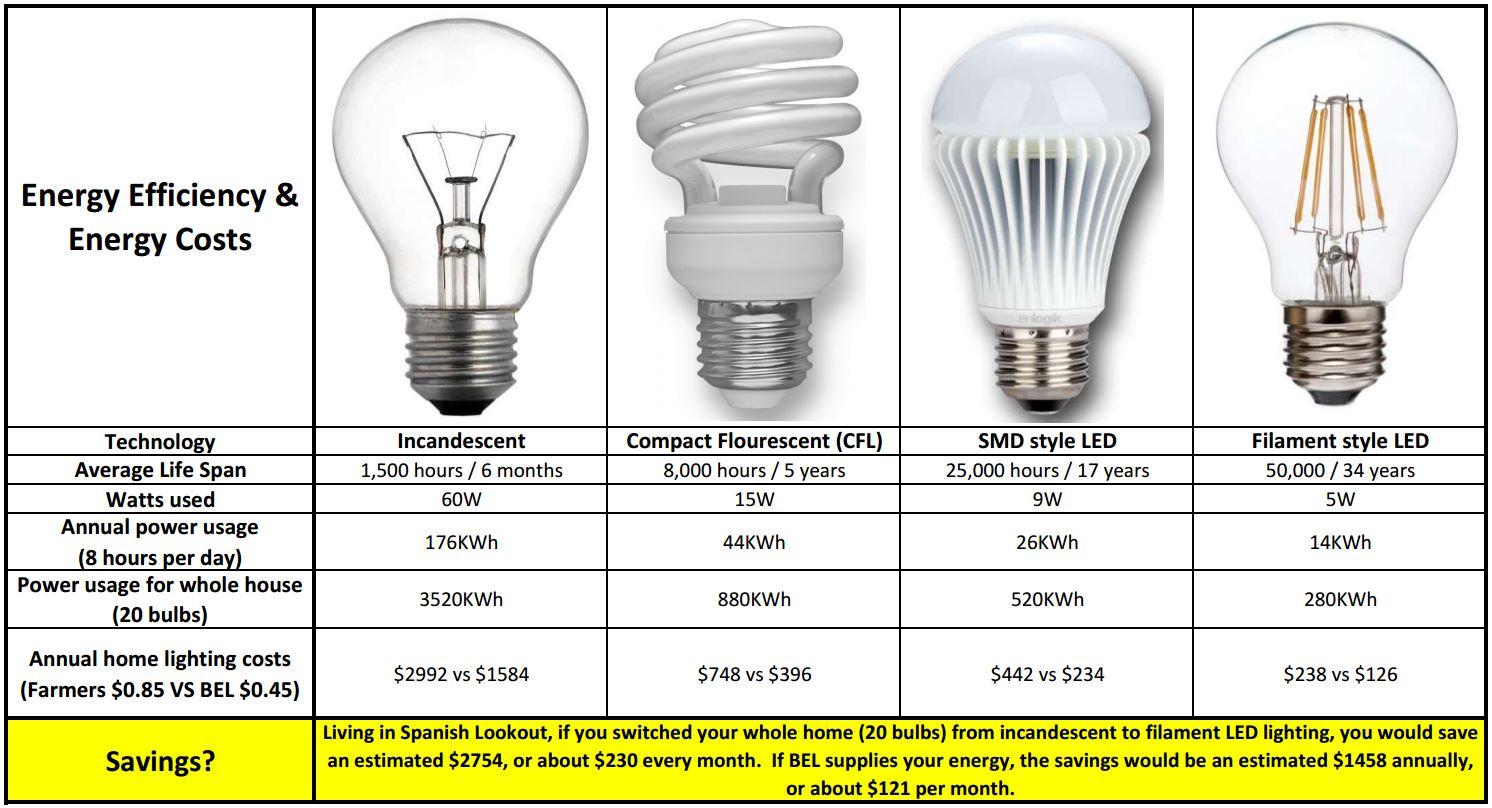 Led Light Bulbs Home Energy Savings