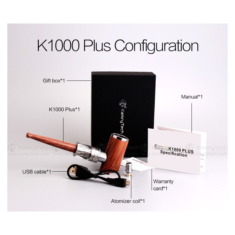 Kamry K1000 Plus user guide and information. Petersham E Pipes