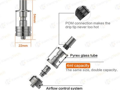 kamry k1000 plus 4ml tank from petersham pipes