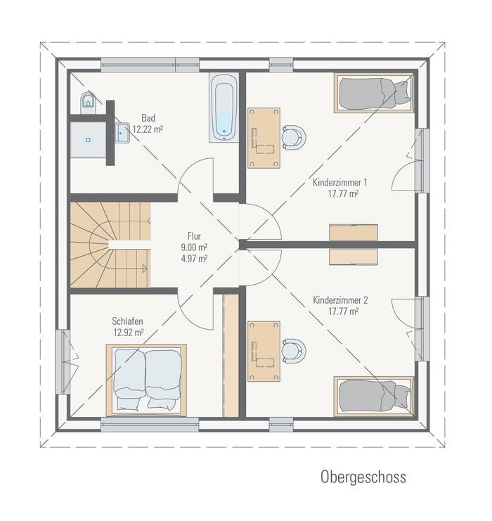 Bungalow Fertighaus Grundriss Bungalow Haus Mit Walmdach Architektur Terrasse Bauen Grundriss