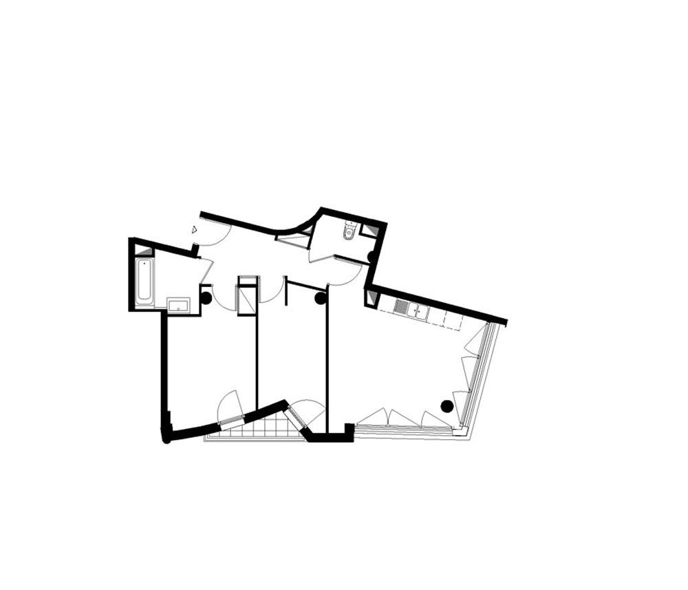 Appartement n°331 Les Terrasses Du Valais : T3 de 62.89 m²