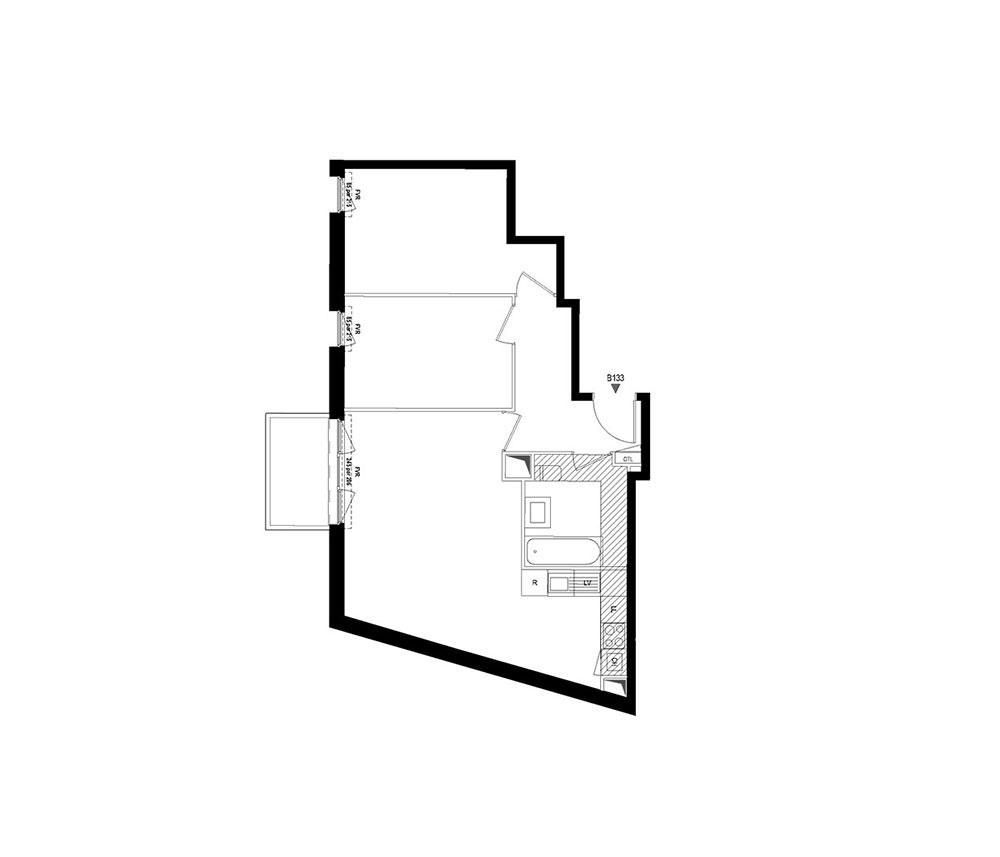 Appartement n°B133 Ar´hÔme : T3 de 61.73 m² à Alfortville