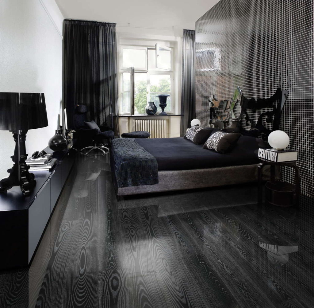 10 black silver rooms with rock n