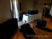 Pre-event setup, getting all the bags and cases loaded-in.