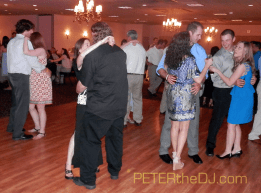 Dancing at Jen and Dan's reception at Barbagallo's in East Syracuse.