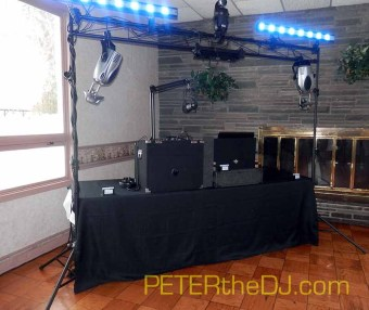 DJ Setup at Stonebridge Country Club in New Hartford, NY