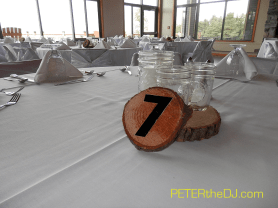 Forest-themed table numbers.