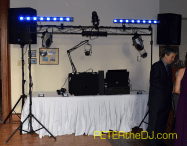 Primary set-up for sound and lights on the dance floor.