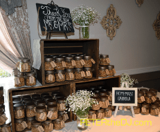 Guests were invited to take home a jar of homemade granola