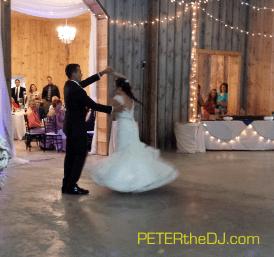 Aubrey and Bill's first dance