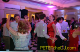 Guests pack the dance floor at Laura and Daniel's wedding reception. Lincklaen House, Cazenovia, NY, 9/26/15.