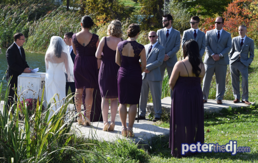 Outdoor ceremony at Wolf Oak Acres in Oneida, NY