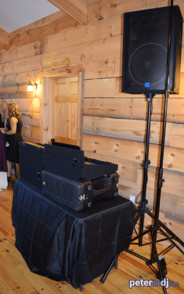 """Sound system """"B"""" upstairs for cocktail hour"""