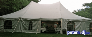 Outdoor weddings: Party tent