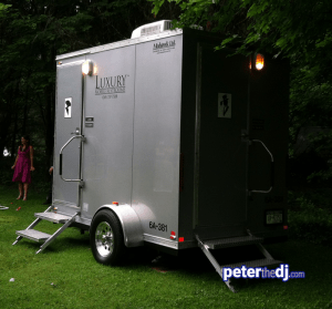 Outdoor weddings: Port-a-potty