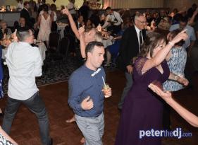 Dancing the night away: Stephanie & Larry's wedding reception at Hart's Hill Inn, Whitesboro, NY - August 2017