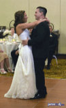 Andrea and Larry's first dance, wedding reception at Turning Stone, Verona, NY