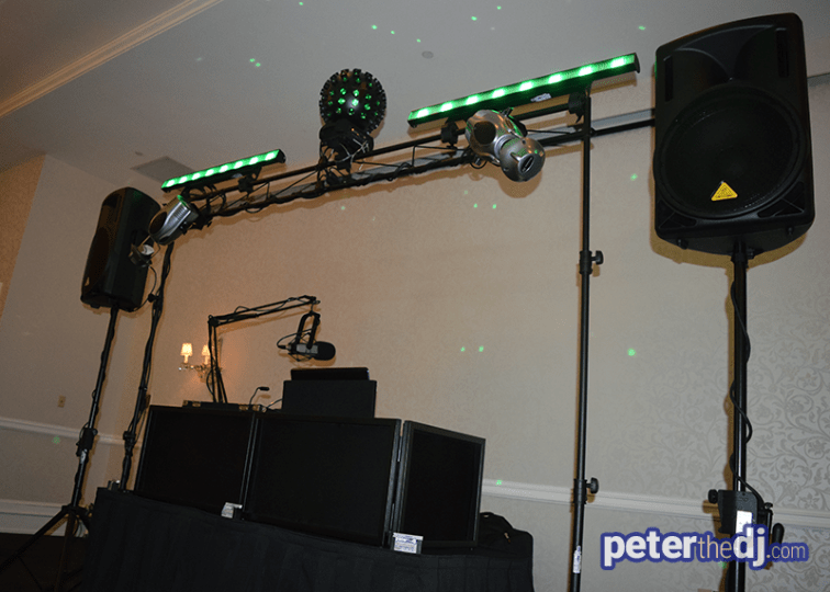 Wedding DJ Setup: Natalie and Matt's wedding at Genesee Grande, Syracuse, NY