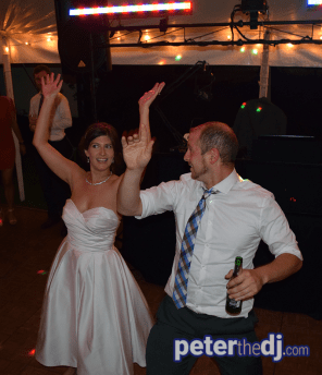 Christina and Philipp's wedding reception at Benn Conger Inn, Groton, NY. August 2018.