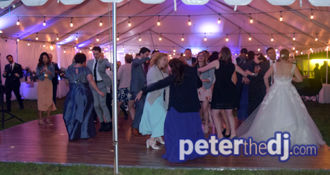 Wedding DJ Peter Naughton shares photos from Rachel and Kevin's wedding in Litchfield, NY. September 2018.