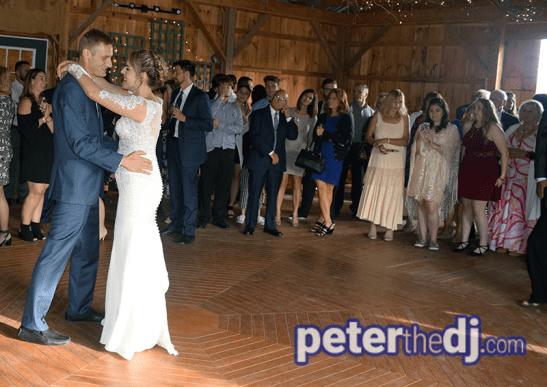 Amber and Nate's wedding at Our Farm, Manlius / Cazenovia, NY. Photo by wedding DJ Peter Naughton