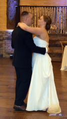 First dance at Emily and Nick's wedding at Tailwater Lodge, Altmar, NY. Photo by DJ Peter Naughton. October 2018
