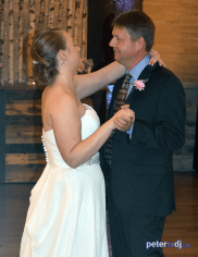 Bride/father dance at Emily and Nick's wedding at Tailwater Lodge, Altmar, NY. Photo by DJ Peter Naughton. October 2018