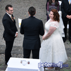 Megan and Jimmy's wedding ceremony at Beardslee Castle, Little Falls, NY. October 2018. Photo by DJ Peter Naughton.