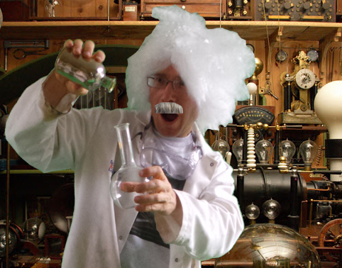 Beware - Mad scientist at work!