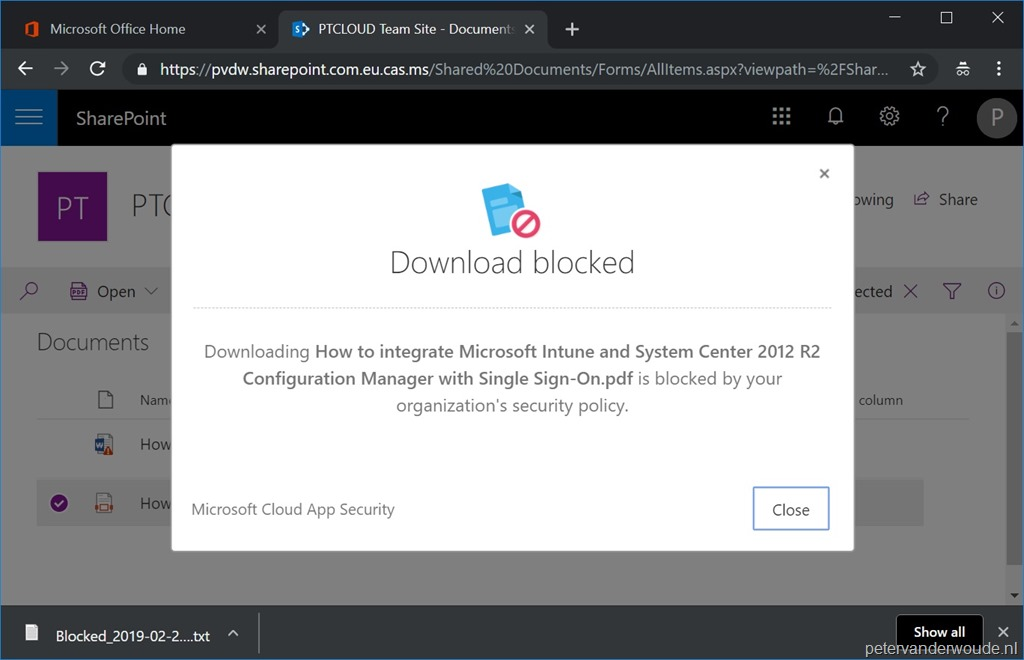 Conditional access and blocking downloads – More than just
