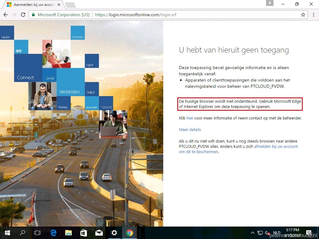 Conditional access and Google Chrome on Windows 10 – More