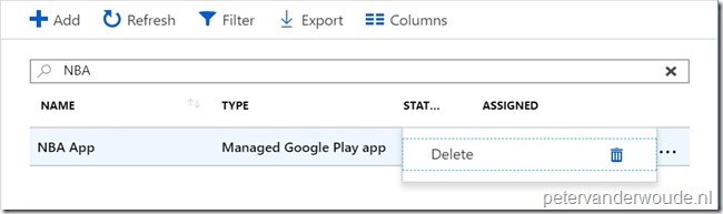 Easily managing Managed Google Play apps directly in Microsoft
