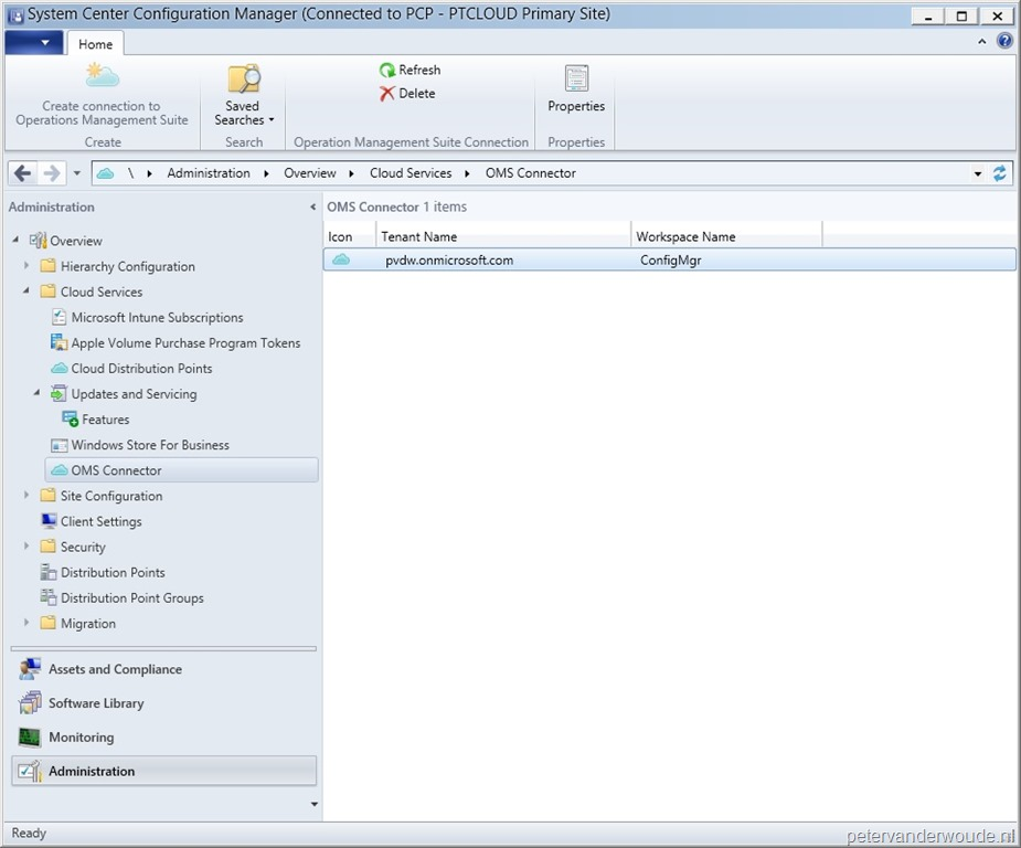 Operations Management Suite connected with ConfigMgr – More