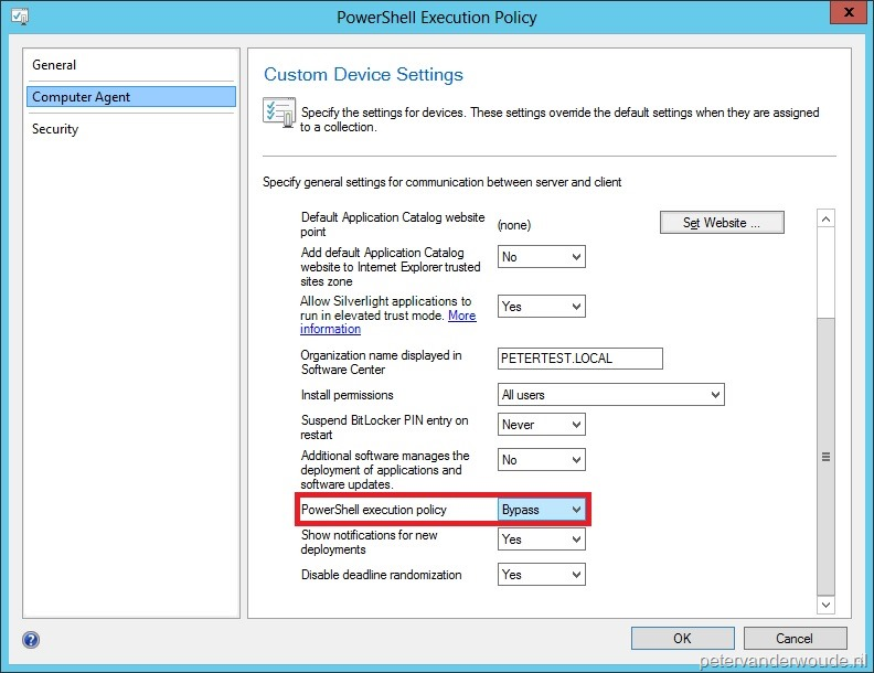 Deployment of Configuration Baseline failed with error 'Script is