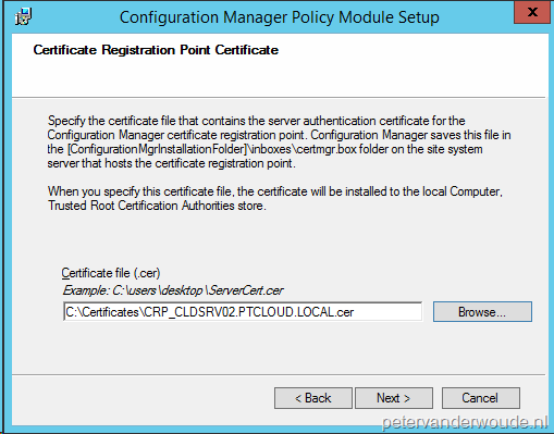Certificate profiles more than just configmgr the component that provides the communication between ndes and the certificate registration point is the configuration manager policy module yadclub
