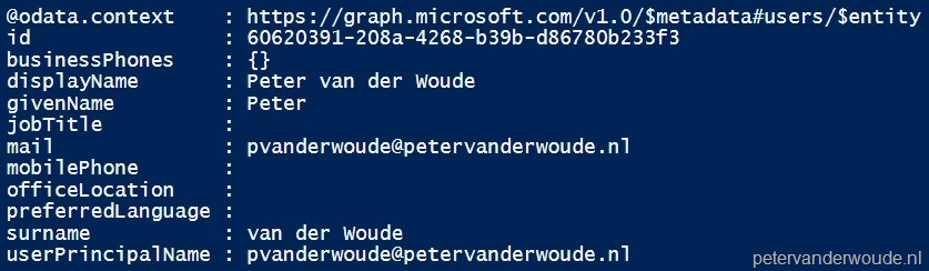 Use PowerShell and Microsoft Graph to access data in Microsoft