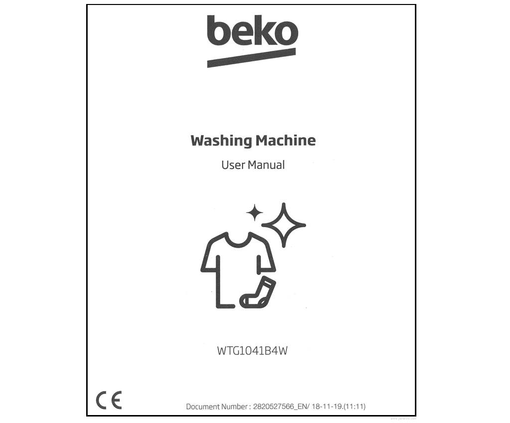 Beko WTG1041B4W User Manual