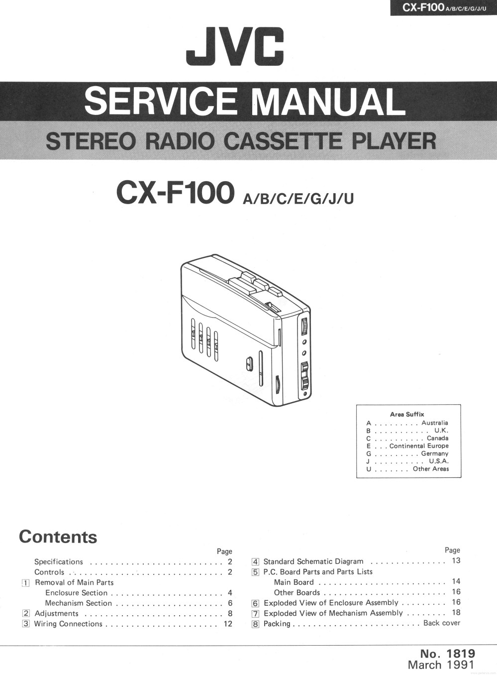 medium resolution of the cx f100 was a stereo cassette player with am fm radio manufactured by the jvc corporation in 1991 it had auto reverse 3 band graphic equalizer