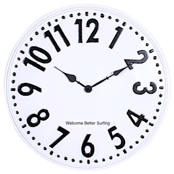 Welcome Better Surfing Clock