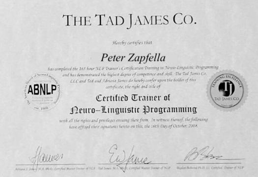 Certified Trainer of Neuro linguistic Programming min