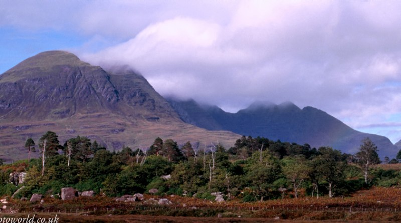 Liathach viewed from falls of Balgy Walk.